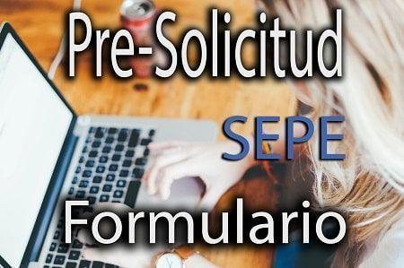 pre-solicitud sepe formulario online